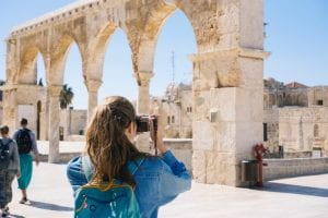 Taking pictures on solo travel